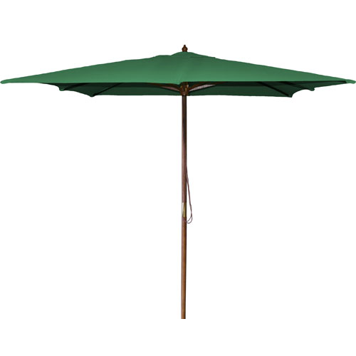 Jordan Manufacturing Company Square Market Umbrellas Green 8.5-Foot Square Wood Umbrella