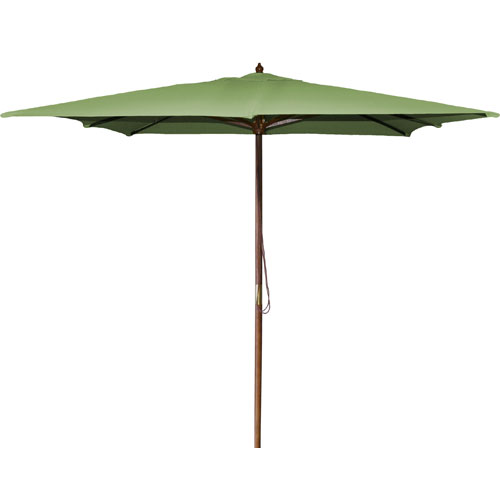 Jordan Manufacturing Company Square Market Umbrellas Olive 8.5-Foot Square Wood Umbrella