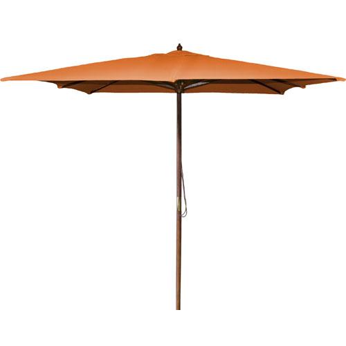 Square Market Umbrellas Orange 8.5-Foot Square Wood Umbrella