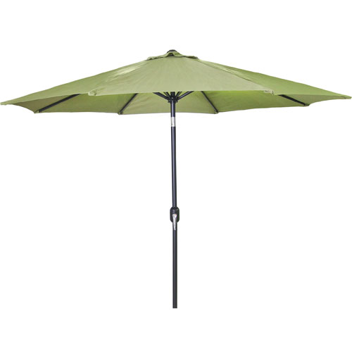 Jordan Manufacturing Company Steel Market Umbrellas Olive 9-Foot Round Steel Umbrella