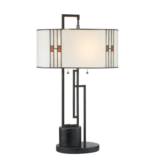 Wilshire Multicolor 26-Inch Two-Light Table Lamp