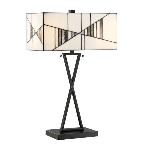 Zellah Mosaic 25-Inch Two-Light Table Lamp