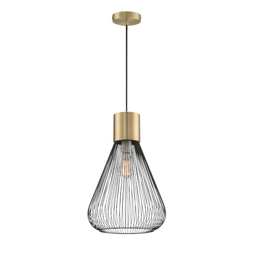 Freira Antique Brass 12-Inch One-Light Pendant