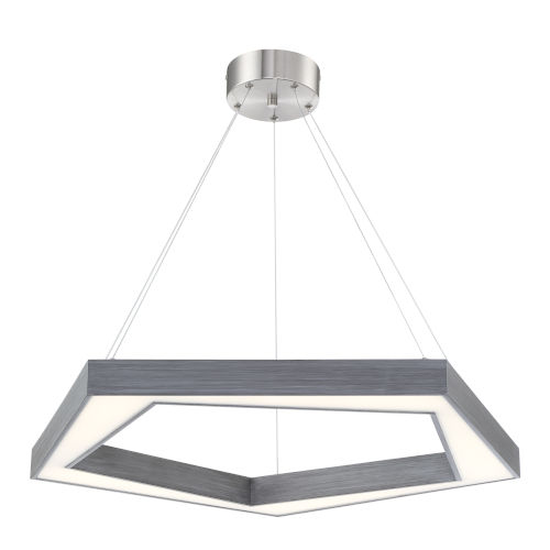 Pentex Charcoal Gray 22-Inch One-Light LED Pendant