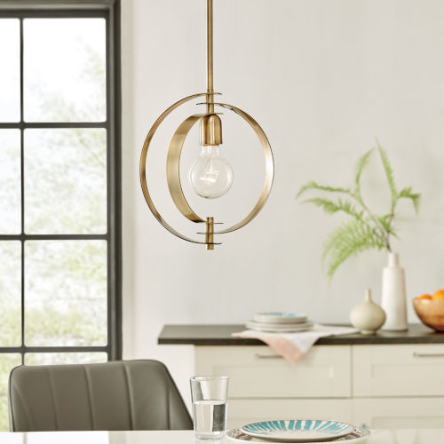 Colbey Antique Brass One-Light Pendant