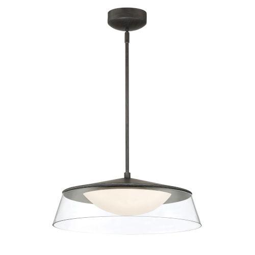Noor Walnut 18-Inch One-Light LED Pendant