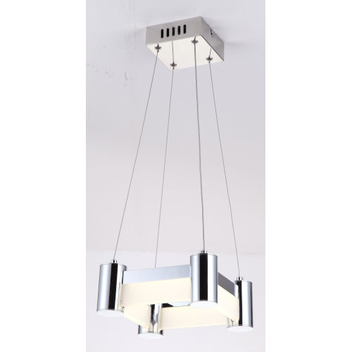 Kellen Chrome Nine-Inch One-Light LED Mini Pendant
