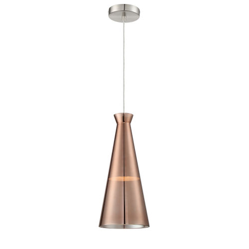 Cabello Copper Seven-Inch One-Light Mini Pendant