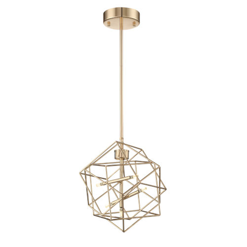 Stacia French Gold 11-Inch Five-Light LED Pendant