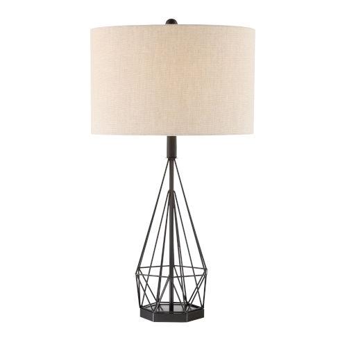 Milton Matte Black 30-Inch One-Light Table Lamp