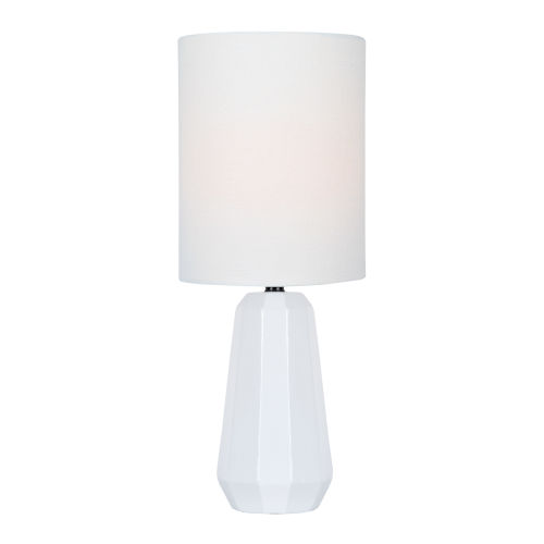 Charna White One-Light Table Lamp