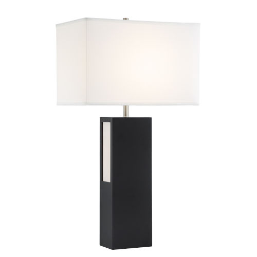 Moulton White And Black 31-Inch Two-Light LED Table Lamp