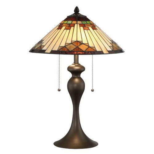 Creason Multicolor 21-Inch Two-Light Table Lamp