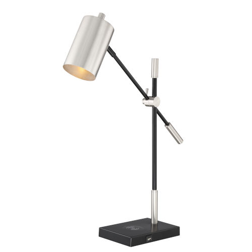 Payne Brushed Nickel One-Light Desk Lamp