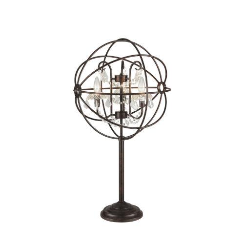 Winona Antique Bronze Three-Light Table Lamp