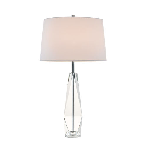 Callum Crystal White One-Light Table Lamp