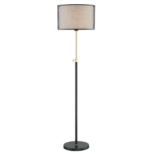 Elena Coffee Gold 63-Inch One-Light Floor Lamp