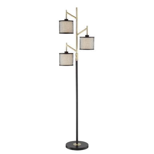 Elena Coffee 66-Inch Three-Light Floor Lamp