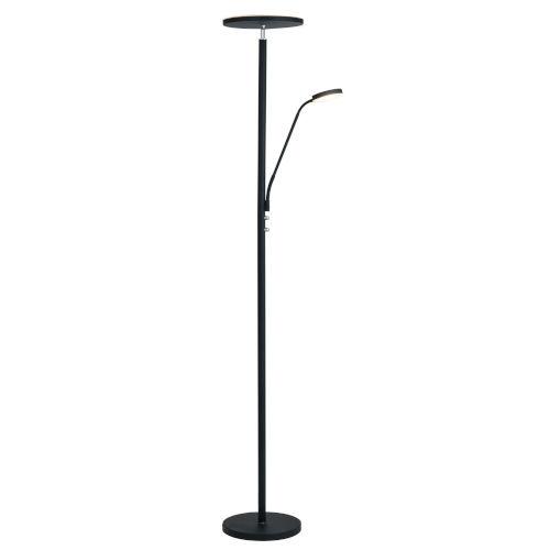 Lite Source Monet Black 72 Inch Two Light Led Torchiere Floor Lamp
