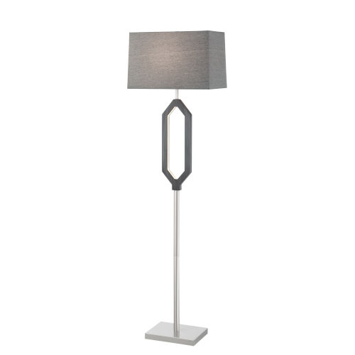 Desmond Gray 64-Inch Two-Light LED Floor Lamp