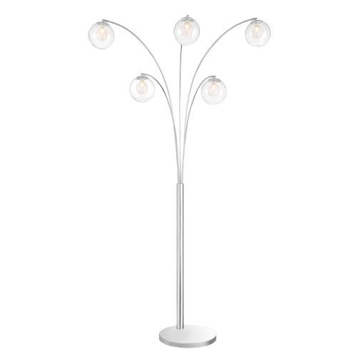 Kampala Clear 87-Inch Five-Light Arch Lamp