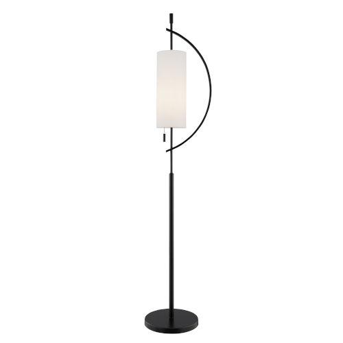 Renessa Black One-Light Floor Lamp