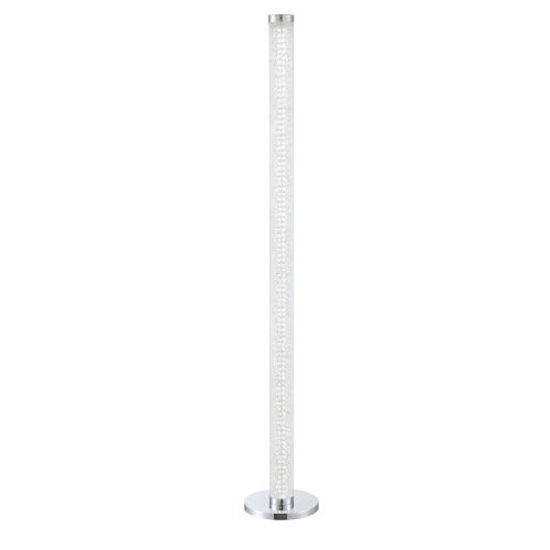 Quilla Chrome Diamond Acrylic LED Floor Lamp