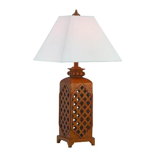 Lite Source Misha Rusted Bronze One-Light Fluorescent Table Lamp