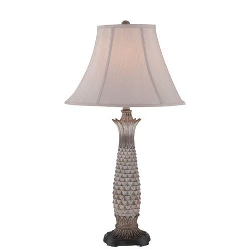 Lourdes Light Brown One-Light Table Lamp