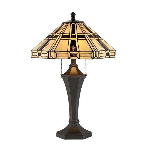 Lite Source Mircea Dark Bronze Two-Light Fluorescent Table Lamp