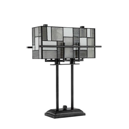 Collins Aged Gun Metal Two-Light Table Lamp