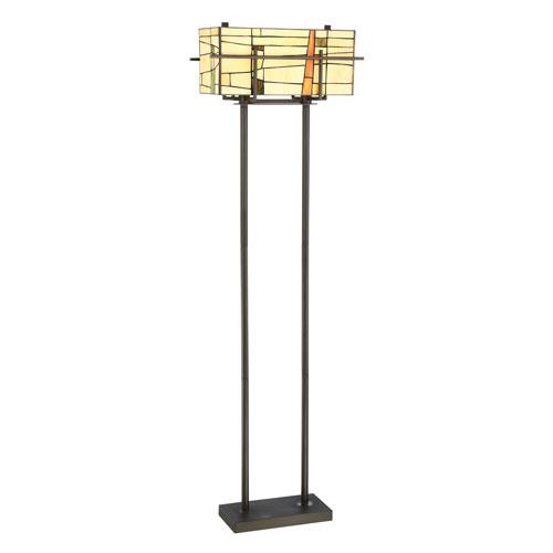 Mansur Dark Bronze Two-Light Floor Lamp