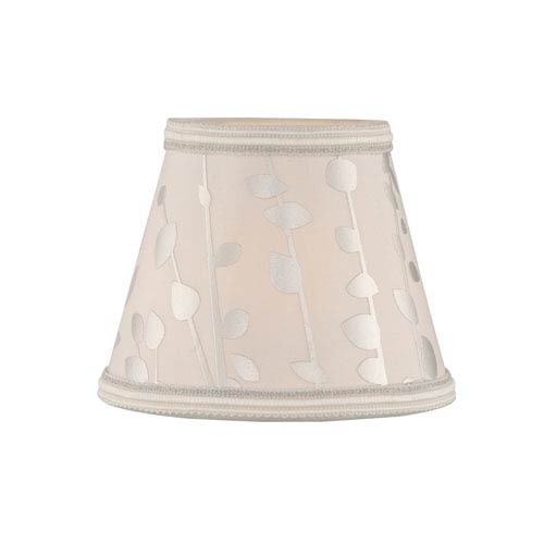 Printed Coolie Light Beige Five-Inch Fabric Shade