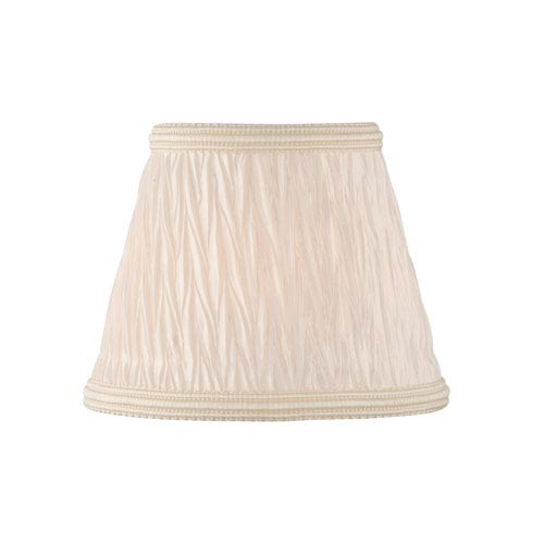 Pleated Coolie Light Beige Five-Inch Fabric Shade
