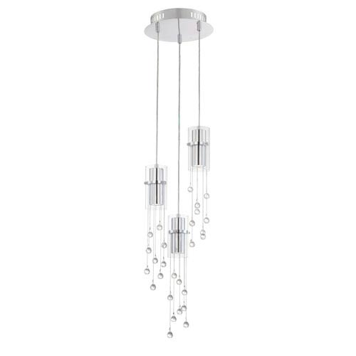 Tilden LED Chrome Three-Light Mini Pendant