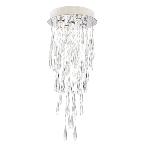 Lite Source Lorelle Chrome Five-Light LED Chandelier