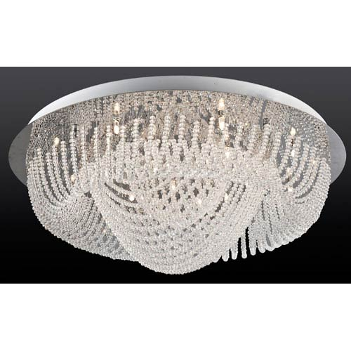Lite Source Orella Chrome 18-Light Flush Mount Light Fixture