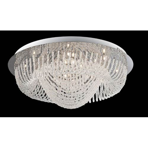 Lite Source Orella Chrome 24-Light Flush Mount Light Fixture