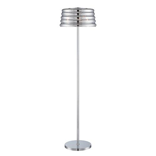 Glass candelabra floor lamp bellacor lite source venice chrome three light floor lamp aloadofball Images