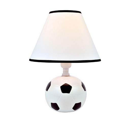 Lite Source Kick Me Black And White Ceramic One-Light Table Lamp