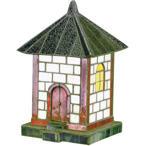 Pagoda Large Brown Tiffany Accent Lamp