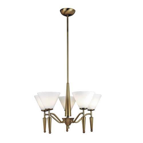 Martini Bronze Five-Light Chandelier
