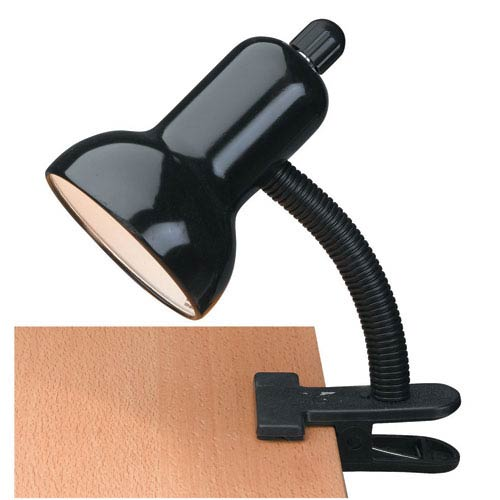 Lite Source Clip-On Black One-Light Clip-On Lamp