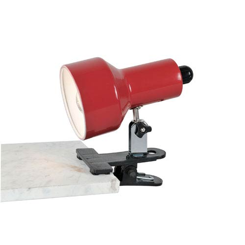 Clip-On II Red Clamp-On Lamp