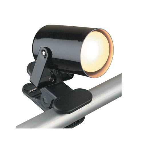 Mini Spot Black One-Light Clip-On Lamp