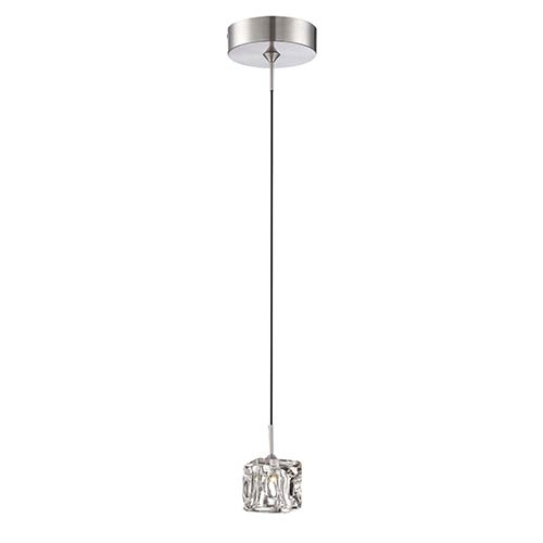 Ice Cube II Polished Steel 2.5-Inch Wide LED Mini-Pendant