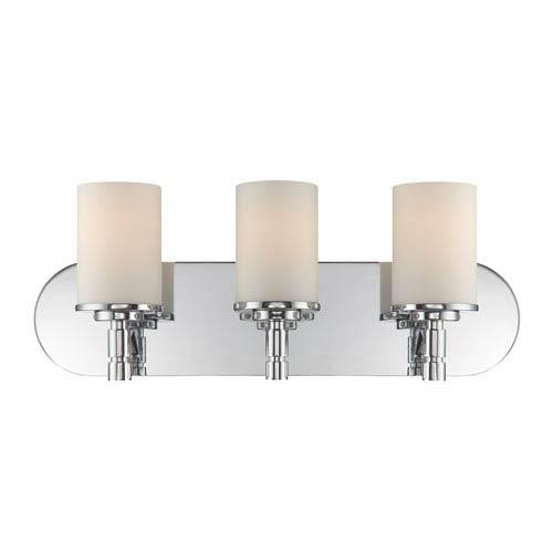 Lina Chrome Three-Light Vanity