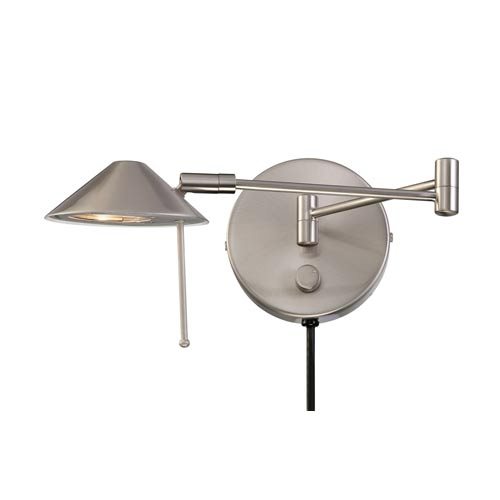 Lite Source Rhine Polished Steel Wall Lamp