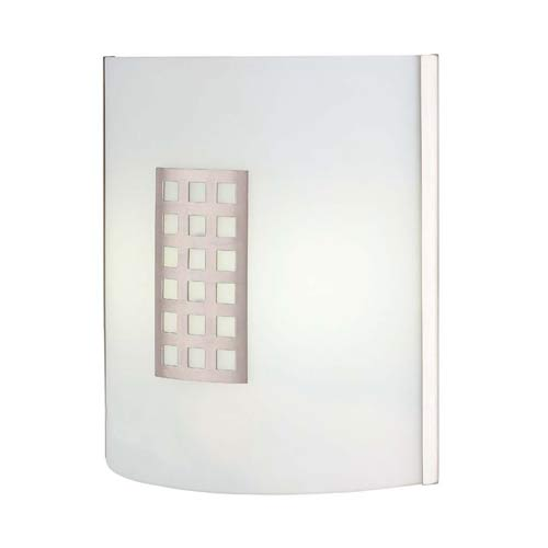 Patch Polished Steel Squares Fluorescent Sconce