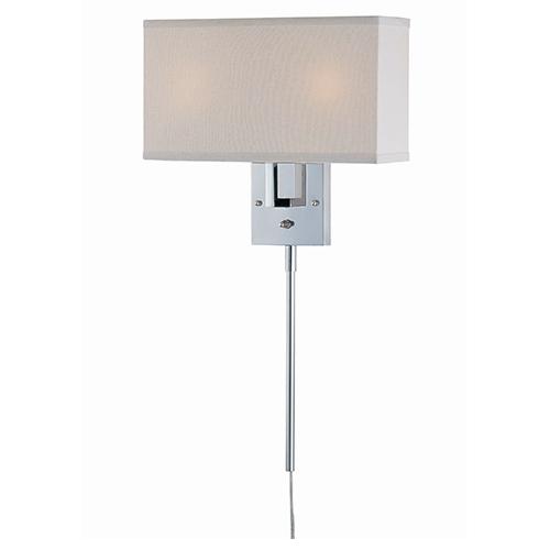 Serafino Chrome Two-Light Wall Sconce